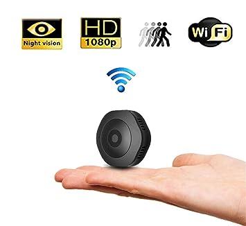 Balscw-J Cámara Oculta Llavero Wi-Fi videocámara 1080P FHD Movimiento Activado Mini cámara portátil con vídeo en Vivo en el teléfono Inteligente y ...