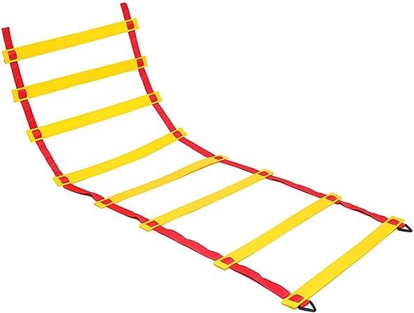 MAYKO Escalera 2m 4 Peldaños Deportiva Escalera de Entrenamiento Escalera Ejercicio para Mejorar Agilidad Velocidad coordinación,20m: Amazon.es: Hogar