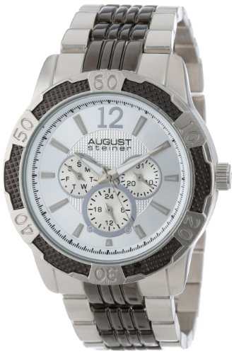 August Steiner Men's AS8058SS Quartz Multi-Function Sport Bracelet ()