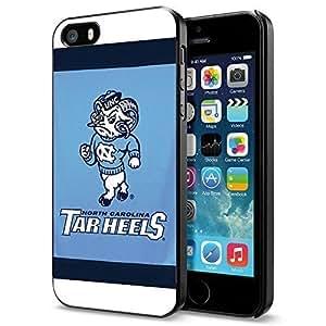 NCAA NC University of North Carolina Tar Heels #12Cool iPhone 5 5s Smartphone Case Cover Collector iphone Black