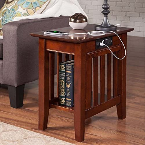 Pemberly Row Charger Chair Side Table