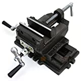"COLIBROX--4"" Cross Slide Vise Drill Press Vises Clamp 2-Way Work Bench Top Mounting Shop. Cross slide vise is designed for precision drilling of metal and woodworking."