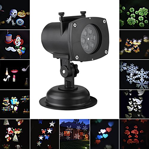 Maple Color Platform (Excelvan 12 Color Switchable Patterns Waterproof IP65 Landscape Projector LED Light Auto Rotating Lamp indoor outdoor for Anniversary,Birthday,Wedding,Party,Camp,Stage,Bar,Club Decoration)