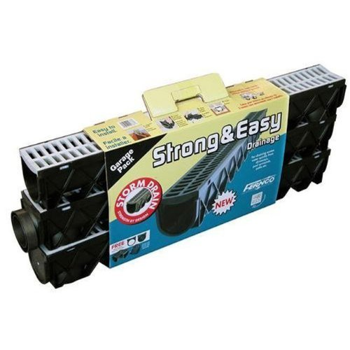 Fernco Storm Drain Trench & Driveway Channel 3-Pack by (Storm Trench)