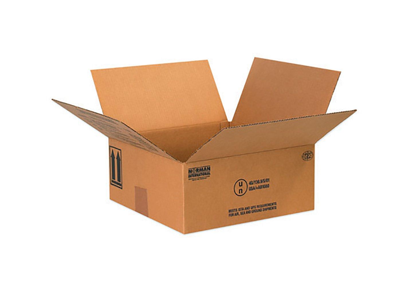 RetailSource B101006HM300 Hazmat Box, 6.1875'' Height, 10.25'' Width, 10.25'' Length, Brown (Pack of 300)