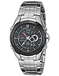 "Casio Men's EFA119BK-1AV ""Ana-Digi Edifice"" Stainless Steel Watch"