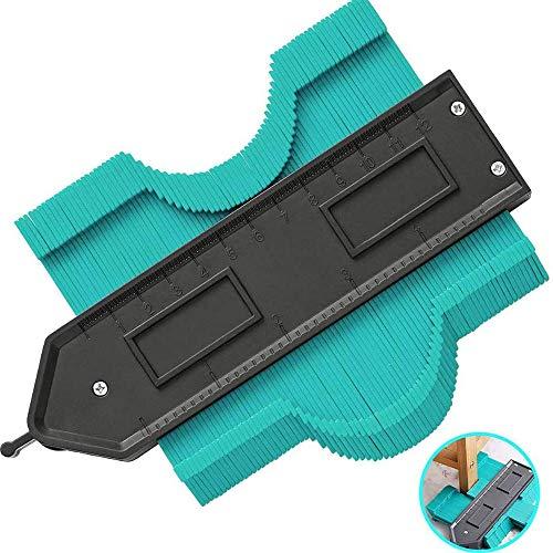 Contour Gauge with Lock 5 Inch Contour Duplication Gauge,Copier Shape Marking Tool for Measuring Plastic Tiles,Ruler