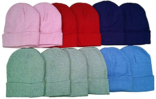 excell Mens Womens Warm Winter Hats in Assorted Colors, Mens Womens Unisex