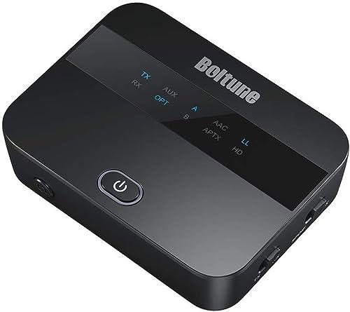 Boltune aptX Low Latency Bluetooth V5.0 Transmitter Receiver