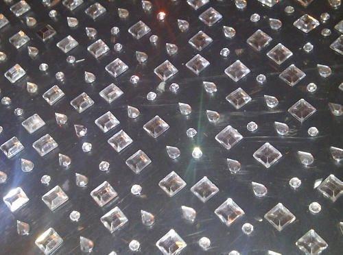 CraftbuddyUS 300 x CLEAR Round Square Teardrop Self Adhesive DIAMANTE Stick On Gems Cards ()