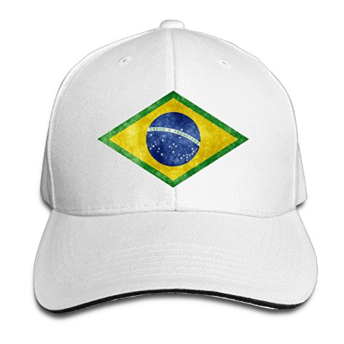 D8Ds Caps Brazil Brasil Distressed Flag Men Unisex Cool Caps Adjustable Cap Baseball Cotton Hat by D8Ds Caps
