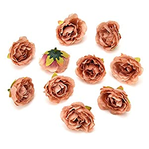 Fake flower heads in bulk wholesale for Crafts Cherry Blossoms Peony Silk Artificial Flower Wedding Party Home Room Decoration Marriage Shoe Hats Accessories Handmade Craft 30pcs 4cm 3