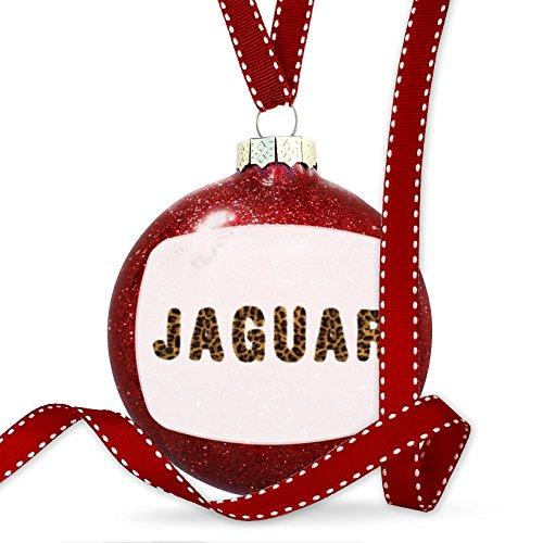 Christmas Decoration Jaguar Cheetah Cat Animal Print Ornament by NEONBLOND