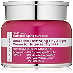 Physicians Formula Skin Concern, Hormonal Aging/Menopause Ultra-Rich Restoring Day amd Night Cream for Intense Dryness, 1 oz.