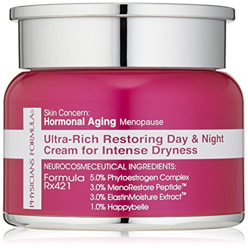 Physicians Formula Skin Concern, Hormonal Aging/Menopause Ultra-Rich Restoring Day amd Night Cream for Intense Dryness, 1 oz.
