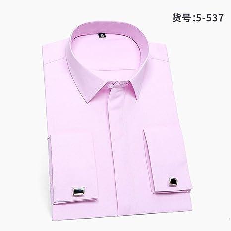CUIAIDING Camisa Boda de Calidad Formal Hombres Puños franceses Camisas de Vestir Bolsillo Botón de Manga Larga Camisa de Esmoquin de Corte Ajustado Gemelos: Amazon.es: Deportes y aire libre