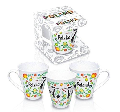Stork Polish - Polish Folk Art Ceramic Mug - Polska Storks