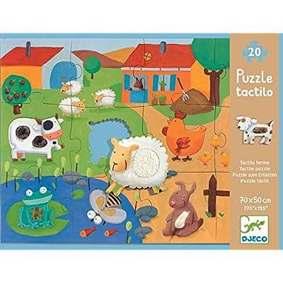 Djeco Tactile Puzzle Fattoria