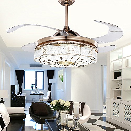 Colorled Invisible Ceiling Fans Living Room Remote