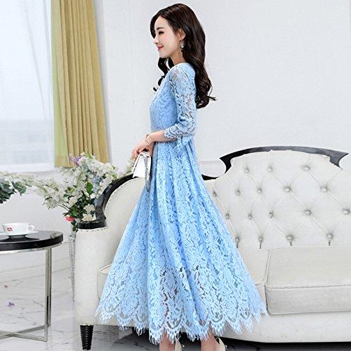 GAOLIM Womens Dress Spring Dress Sleeve Type A Dress Light Blue XL