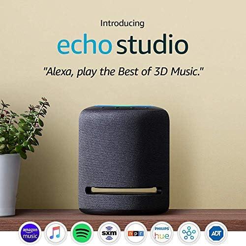 Certified Refurbished Echo Studio - High-fidelity sensible speaker with three-D audio and Alexa