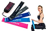 Resistance Loop Bands Set of 5 by USA Fitness Elite - Color Coded, 5 Resistance Options, Durable & Lightweight + Free Carry Back! Extra Long Bands, 12Inch Exercise Band, Workout without a Gym - Quality Latex Retains its Elasticity. Get the Body you Want! Bonus - Online Video and eBook