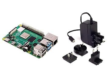 Raspberry Pi 4 Model B 2GB RAM with 5 1V 3A USB-C Multinational Power Supply