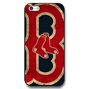 2015 CustomizediPhone 5C Case, Onelee(TM) MLB Boston Red Sox iPhone 5C Case [Black Hard Plastic]