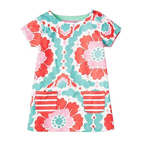 HaHapo Baby Girls Summer Dress 2018 Brand Princess Kids Clothes Flower Dresses Costume 100% Cotton,5,88, -