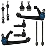 #6: Detroit Axle - 10pc Front Upper Control Arms w/Ball Joint Assembly, Lower Ball Joints, Sway Stabilizer Bar Links, Inner Outer Tie Rod Kit for 2002-2005 Dodge Ram 1500 2WD