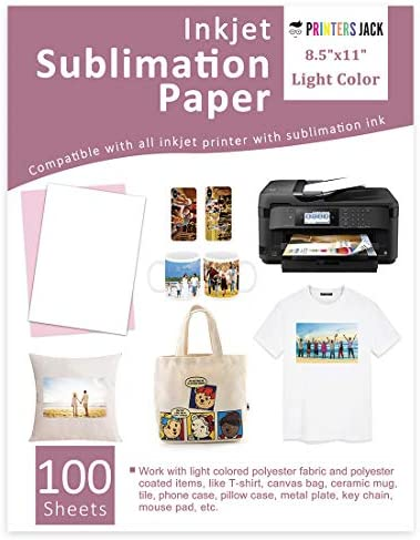 Mugs etc Used with Press Machine to Make Your Customized Gifts for Any Special Occasions PC Universal Sublimation Printer+100 Sheets Transfer Paper for DIY T-Shirt