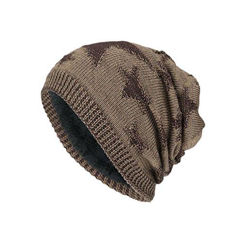 Cálido Clásico Diseño YiJee Elegante Gorro Sombreros Atractivo al Aire Punto Caqui Hombre Invierno Libre de SzFqwzUT
