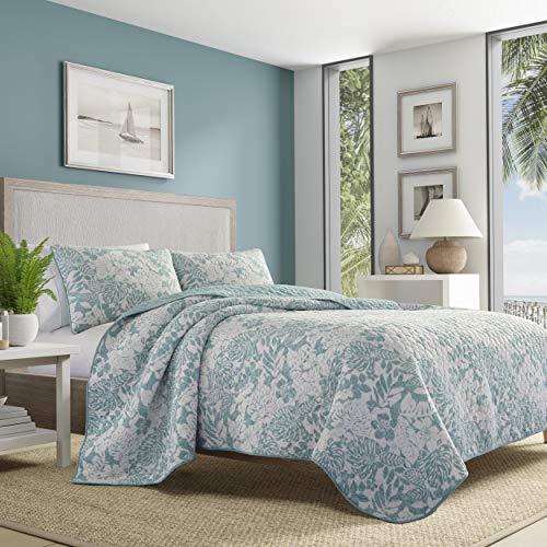 Tommy Bahama Laguna Beach Quilt Set Aqua Blue