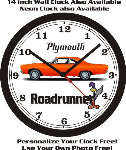 Plymouth Roadrunner - 1968-1969 PLYMOUTH ROADRUNNER WALL CLOCK-FREE USA SHIP!