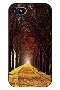 SPRAWL iPhone 4s Case Scenic Clear Print Charm Tree Road Hard Plastic Snap on Uniqe Design
