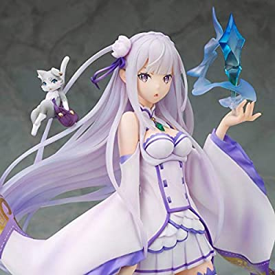 Megahouse Re: Zero - Starting Life in Another World: Emilia PVC Figure, Multicolor (827174): Toys & Games