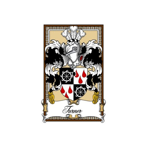 Turner Scotland Family Crest Coat of Arms Mouse Pad (Turner Genealogy)