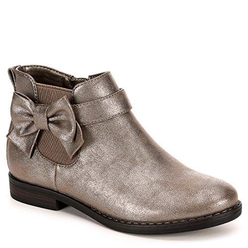 Cupcake Couture Girls Jodi Chelsea Ankle Boot Shoes, Pewter, US 1 Little ()
