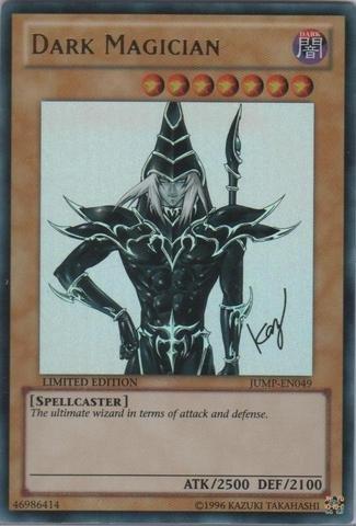 Yu-Gi-Oh! - Dark Magician (JUMP-EN049) - Shonen Jump Magazine Promos - Promo Edition - Ultra Rare (Dark Magician Ultra Rare Card)