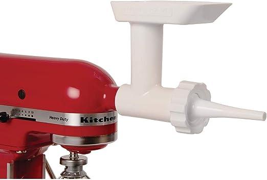 STAINLESS METAL Grinder for Kitchenaid Mixer /& Sausage Stuffer Kit CASINGS
