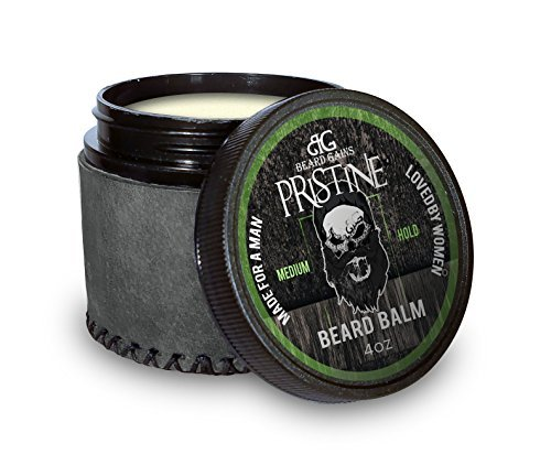 Beard Gains Pristine Luxury Mens Original Cologne Scented Beard Balm Conditioner – Medium Butter Hold – Made for A Man, Loved by Women (4oz)