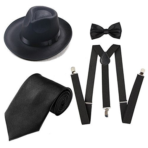 Heaven Costumes Flapper - Men's Roaring 1920s Set Manhattan Fedora