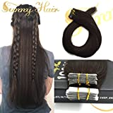 Sunny Remy Hair Extension Tape in Human Hair Dark Brown #2 40pcs 100g Full Head Skin Weft Tape in Hair Extensions