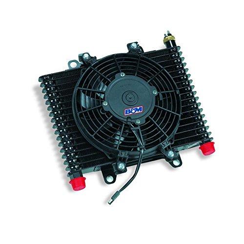 B&M 70297 Cooler Large Hi Tek Cooling System with Fan 590 CFM Rating Automatic Transmission Oil Cooler