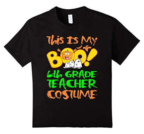 Kids My Boo 6th Grade Teacher Costume Halloween Funny Tshirt 12 (Halloween Costumes 6th Grade Boy)