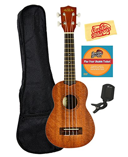 kala-ka-15s-mahogany-soprano-ukulele-bundle-with-gig-bag-austin-bazaar-instructional-dvd-clip-on-tun