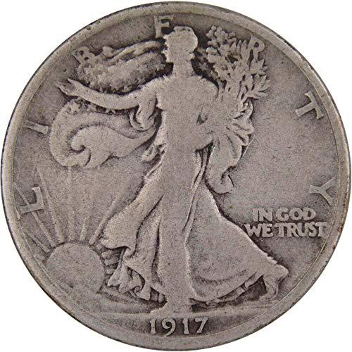 1917-S 50c Liberty Walking Silver Half Dollar Reverse Mintmark VG Very Good