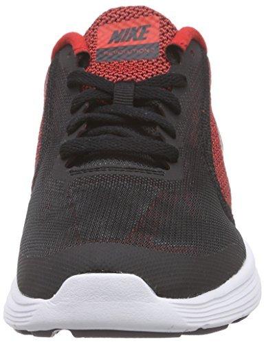 Boy's Nike Revolution 3 (GS) Running Shoe Black/White/Volt Size 5 M US