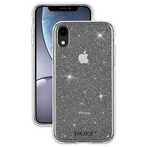 (EMERGE - iPhone XR Glitter Case - SHIMMER - Sparkle Effect - Clear (Renewed))