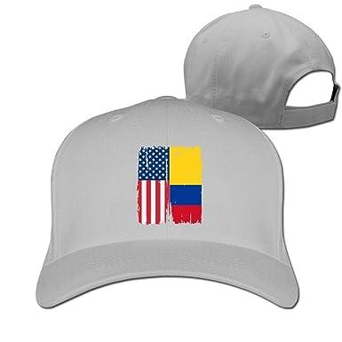 Pimkly Unisexo Sombreros/Gorras de béisbol, American Colombia Flag ...